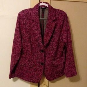 Torrid pink floral blazer
